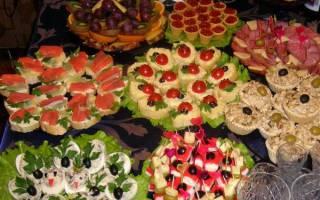 Блюда к свадебному столу. Свадьба дома: примерное меню для праздничного стола. Правильный расчет спиртного и количества блюд