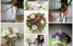 Свадебный букет своими руками. Как сделать букет из тюльпанов? Украшения для невесты