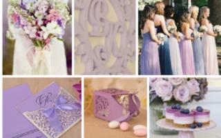 Оформление свадьбы в розово бело лиловых цветах. Фиолетовая свадьба: самый красивый цвет для самого главного праздника