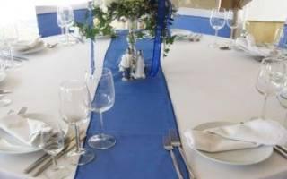 Оформление свадебного стола в синем цвете. Оформление синей свадьбы: всё что нужно знать и примеры оформления. Как оформить зал на свадьбу своими руками: фото лучших свадебных залов
