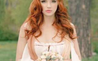 Рыжеволосая невеста: свадебные образы, цвета в макияже и нарядах. Рыжеволосая невеста: идеи для образа