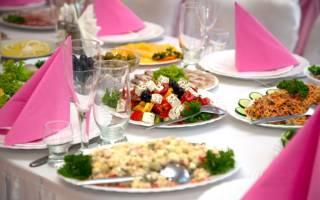Скатерть самобранка или свадебное меню дома. Составляем меню на свадьбу в кафе: вкусно, сытно, роскошно