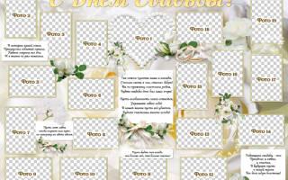 Плакаты на годовщину свадьбы. Плакаты на свадьбу своими руками
