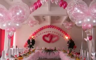 Оформление воздушными шарами украшение шариками. Оформление воздушными шарами на свадьбу