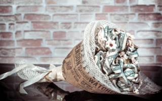 Оригами из денег простые. Букеты из купюр ко дню рождения, свадьбе, Новому году