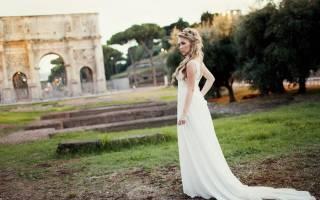 Свадебные прически на короткие волосы. Красивый свадебный образ невесты в пышном платье. Нежный образ невесты в греческом стиле